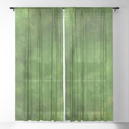 Green Ombre Sheer Curtain