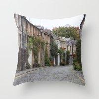 edinburgh Throw Pillows featuring Edinburgh street by RMK Creative