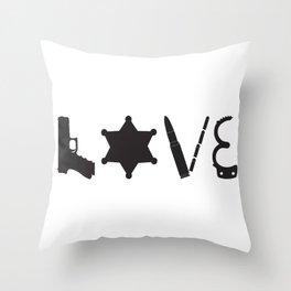 Love Deputy Sheriff Throw Pillow
