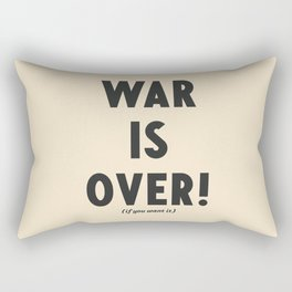 War is over, if you want it, peace message, vintage illustration, anti-war, Happy Xmas, song quote Rectangular Pillow
