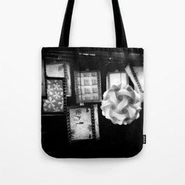 Grey Lanterns Tote Bag