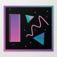 disco Canvas Prints featuring disco by Hannah Siegfried