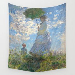 Monet - Madame Monet and Her Son - 1875 Wall Tapestry