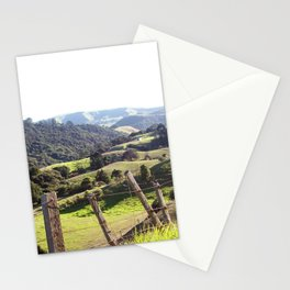 Green Rolling Hills Stationery Cards