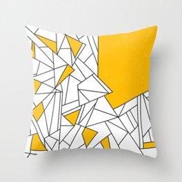 Black and Yellow geometric pattern Throw Pillow