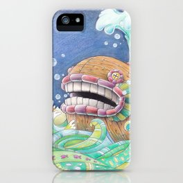 Whaleship iPhone Case