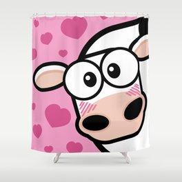 Lovestruck Cow Shower Curtain