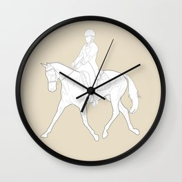 Dressage in Brown Wall Clock