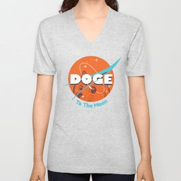 Doge Nasa Variant (To The Moon!) Unisex V-Neck