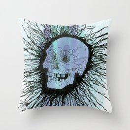 Splatter Skull Throw Pillow