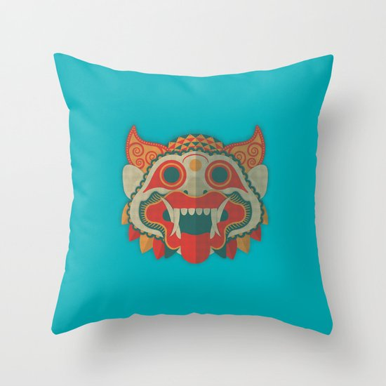 Paper Mask Throw Pillow
