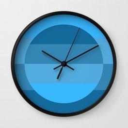 Hardedge abstract geometric art - shades of blue Wall Clock