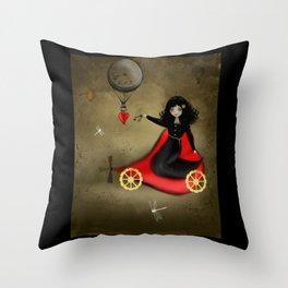 Keys to my Heart Dark Steampunk Valentine Throw Pillow