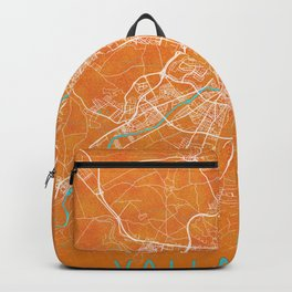 Valladolid, Spain, Gold, Blue, City, Map Backpack