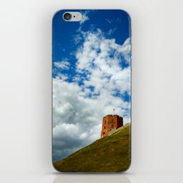 Lonely tower on hill iPhone Skin