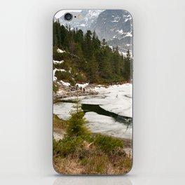 Tourists trek around Morskie Oko Lake iPhone Skin