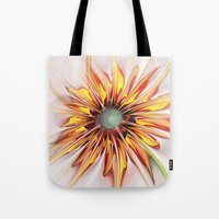 sunflower Tote Bags featuring Sunflower by Klara Acel