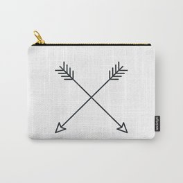 Arrows - Black and White Arrow Adventure Wanderlust Vintage Compass Design Carry-All Pouch