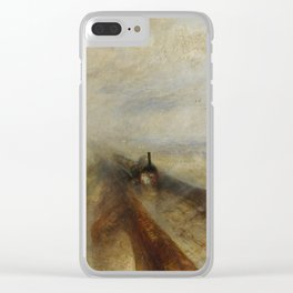 "J. M. W. Turner ""Rain, Steam and Speed – The Great Western Railway"" Clear iPhone Case"