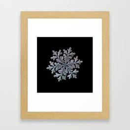 Real snowflake - Hyperion black Framed Art Print