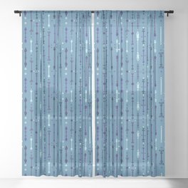Scandi-Sticks B - Vertical - Sky Sheer Curtain