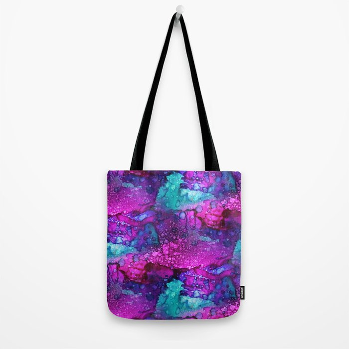 Melting Purple Alcohol Ink Abstract Tote Bag