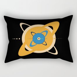 Solar System To Scale - Concentric Rectangular Pillow
