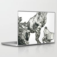 jurassic park Laptop & iPad Skins featuring jurassic by BzPortraits