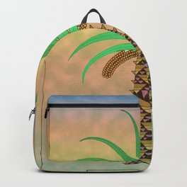 La Palmera Canaria o phoenix canariensis Backpack