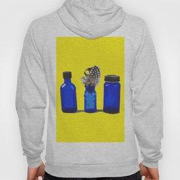 Cobalt Blue Glass Bottle Illustration Hoody