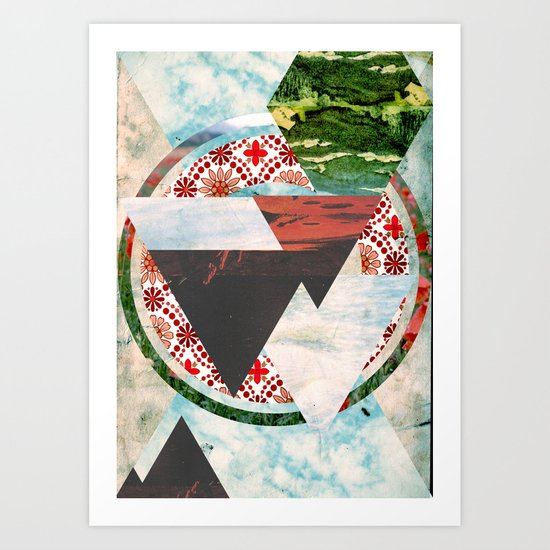Experimental Abstraction Art Print
