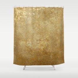 Gold Rush, Golden Shimmer Texture, Exotic Metallic Shine Graphic Design Shower Curtain