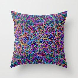 Scribble Synapse Throw Pillow