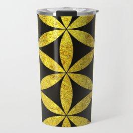 Flower Of Life (Golden Sunset) Travel Mug