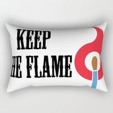 Keep the Flame Rectangular Pillow