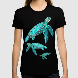 Sea Turtle Turquoise Oceanlife T-shirt