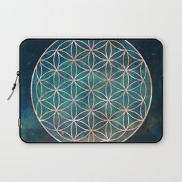 Mandala Flower of Life Rose Gold Space Stars Laptop Sleeve