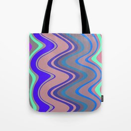 Distorted stripes in colour 5 Tote Bag