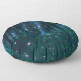 Glowing Space Woods Floor Pillow