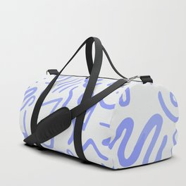 Lavender Abstract Shapes Duffle Bag
