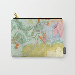 Southwest Map - Pastel Carry-All Pouch