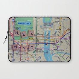 New York City, NYC Map, Subway, Travel Laptop Sleeve