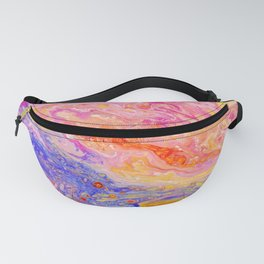 Pink and Yellow Abstract Fanny Pack