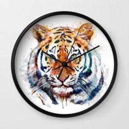 Tiger Head watercolor Wall Clock