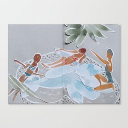 Inflatable Pool Canvas Print