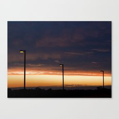 Sunset Street Lights Canvas Print