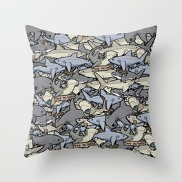 Save ALL Sharks! Throw Pillow