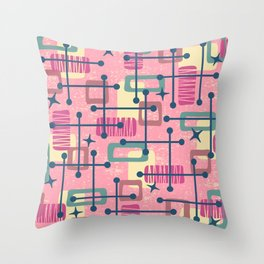 Mid Century Modern Abstract Pattern 774 Throw Pillow