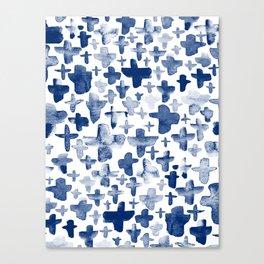 Navy Blue Crosses Canvas Print