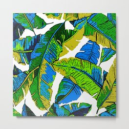 BANANA PALM LEAF PARADISE Metal Print